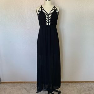 Dresses & Skirts - Black sheer maxi dress
